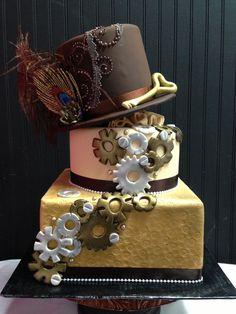 Steampunk cake: a good way to kick off any celebration.