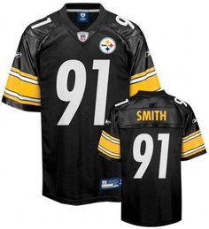 Pittsburgh Steelers Aaron Smith #91 Reebok Replica Screened 4XL Jersey #Reebok #PittsburghSteelers
