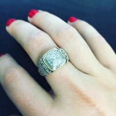 #silver  #diamonds  #goldaccents = perfection#sterlingsilver #sterlingsilverjewelry #jewelry #silverjewelry #diamond #gold #ring #fashion #instafashion #style #instastyle #trend #instatrend #instajewelry #cirquejewels by cirquejewels