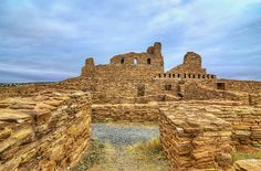 The Abo Ruins is called The Abo Ruins. It dates back to the 1300's and is located about 75 miles South of Albuquerque, New Mexico in the desert. It was believed to be a major trading station in the past. (Salinas Pueblo Missions National Monument)