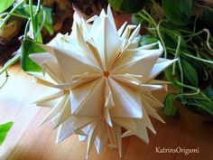 Origami Peace Crane Kusudama - looks complicated compared to just making a crane!