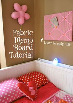 Fabric Memo Board Tutorial at On The Rag Mag