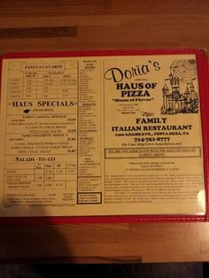 Doria's Haus of Pizza, Costa Mesa, Ca used to work next door.
