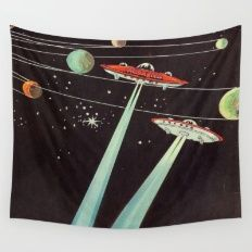 Aliens Wall Tapestry