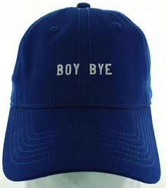 BOY BYE Embroidered Dad Hat Black at Amazon Women's Clothing store: