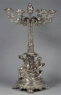 Silver Six-light candelabrum Maker:Paul Storr (British, 1771–1844) Rundell, Bridge and Rundell (British, London, active 1797–1843) London, 1813.