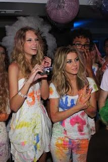 splatter paint party- this would be so fun! everyone where white clothes and have a paint fight!!! @Emma
