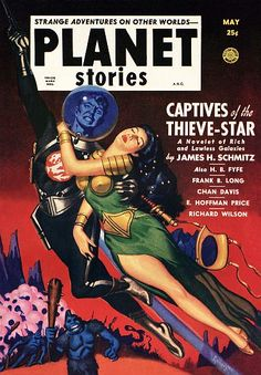 Vintage Sci Fi Poster A.N.C. Planet Stories May 25c