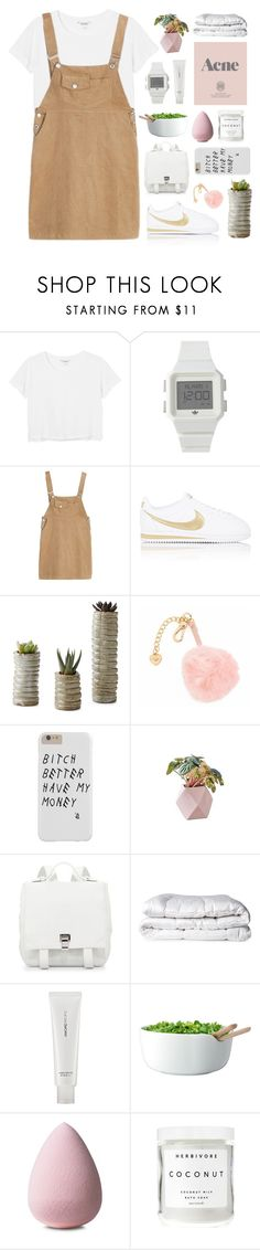 """""""hope"""" by imslaying ❤ liked on Polyvore featuring Monki, adidas, NIKE, Juicy Couture, Proenza Schouler, Brinkhaus, AmorePacific, Prada, LSA International and Herbivore Botanicals"""