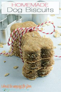 Homemade Dog Biscuits | Four Ingredients and easy to make! | Dogs LOVE them!