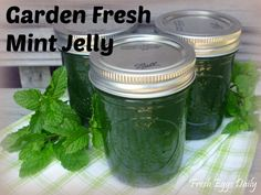 Garden Fresh Mint Jelly Canning Recipe    going to try making this, have oodles of mint in my garden!