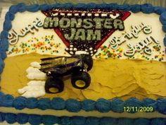Monster Jam Birthday Cake, perhaps for isaac's birthday