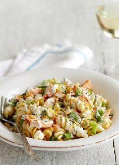 Low FODMAP & Gluten free Recipe - Hot-smoked salmon with creamy pasta  http://www.ibssano.com/low_fodmap_recipe_hot_smoked_salmon_creamy_pasta.html
