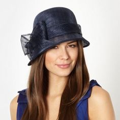 Hatbox Navy bow trim cloche hat- at Debenhams.ie