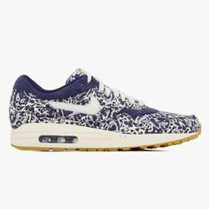 best loved 1bd52 76994 Women s Nike Wmns Air Max 1 ND Lib QS Liberty Print Imperial Purple Sail  528712-500 Trainers