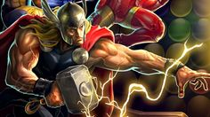 Marvel Puzzle Quest: At some point match three puzzles took a turn towards fighting games, and games like Marvel Puzzle Quest came into existence. #marvel #puzzle #free #mobile #game #review #iOS #Android