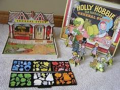 holly hobbie playsets | ... HOLLY HOBBIE GENERAL STORE Vintage Colorforms COMPLETE Standup Playset This was one of my favorite sets.