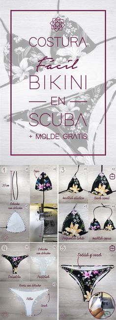 Costura fácil: Bikini en scuba + molde free of charge. Sewing Patterns Free, Free Sewing, Free Pattern, Crochet Patterns, Crochet Bikini Pattern, Finding A Hobby, Design Blog, Illustrator, Sewing For Beginners