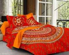 Checkout this latest Bedsheets_500-1000 Product Name: *Imperial Jaipuri Mandala Printed Double Bedsheet* Fabric: Bedsheet - Cotton  Pillow Covers - Cotton Dimension: ( L X W ) - Bedsheet - 90 in x 100 in Pillow Cover - 17 in x 27 in Description: It Has 1 Piece Of Double Bedsheet   2 Piece Of  Pillow Covers Work: Printed Thread Count: 160 Country of Origin: India Easy Returns Available In Case Of Any Issue   Catalog Rating: ★4.2 (2511)  Catalog Name: Cosmic Jaipuri Mandala Printed Double Bedsheets Vol 1 CatalogID_54718 C53-SC1101 Code: 334-497422-6501
