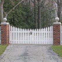 Picket fence gates | Custom Wood Gate Designs by Elyria Fence, a Cleveland fence company ...
