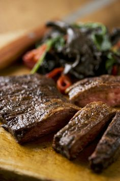 Roasted Merken Spiced Skirt Steak with Chilean Extra Virgin Olive Oil