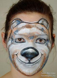 Polar Bear (Olympic mascot Sochi-2014). Face paint by Tanya Maslova.