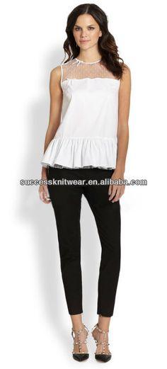 a61f0123e4b YIGELILA-7158 mesh white lady blouse, View mesh white lady blouse, YIGELILA  Product Details from Jiujiang Success Knitting Garment Co., Ltd. on  Alibaba.com