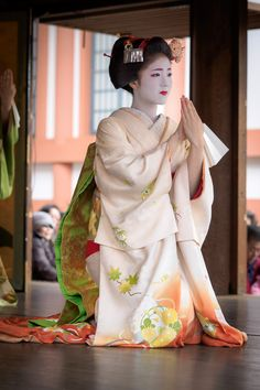 Japanese Geisha at the Kitano-Tenmangū Shrine