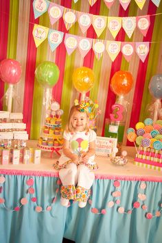 "Photo 22 of 83: It's Sweet To Be 3 / Birthday ""Piper's Lollipop Shoppe"" 