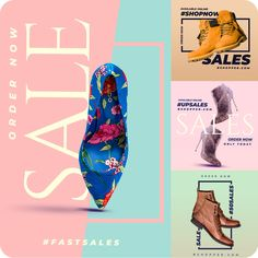 Sales banners great for your shoe business. Sales banners great for your shoe business. Social Media Poster, Social Media Banner, Social Media Design, Social Media Graphics, Social Media Template, Creative Banners, Ads Creative, Media Media, Social Networks