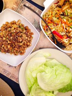 Yes, #vegan Filipino food is possible. For dinner, my aunt made vegetable and tofu pancit, and lettuce wraps with a crispy tofu, peanut and mushroom medley for the filling. The wraps were #glutenfree too. So good!  #mealforameal #plantbased #flexitarian #eatclean #eatrealfood  #instafood #food #dinner #healthyeating #cooking
