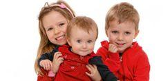 ULIKE SØSKEN: Guro (5), Torstein (3,5) og Sigrid (9 mnd) fra Oslo er en del av en søskenflokk på fem. Foreldrene så allerede like etter fødselen at barna hadde hver sin unike personlighet. Emilie (13) og Daniel (12) er ikke med på bildet.
