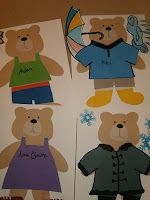 Fun preschool activities for Jesse Bear, What Will You Wear? (Before Five in a Row)