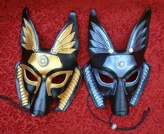 Two Industrial Anubis Masks by merimask.deviantart.com on @deviantART