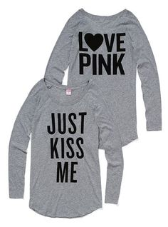 I want this sleep shirt from Victoria Secret's pink collection $24.50