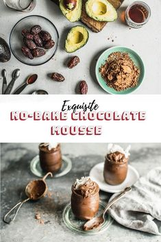 You'll never want to miss out on this no-bake chocolate mousse that you can make under 10 min Vegan Recipes For One, Quick Vegan Meals, Healthy Vegan Desserts, Vegan Lunch Recipes, Raw Desserts, Raw Food Recipes, Frozen Chocolate, Dairy Free Chocolate, Vegan Chocolate