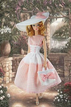 Barbie in Pink Gingham - Gwendolyns Treasures Barbie Style, Barbie I, Barbie World, Barbie Dress, Barbie Clothes, Barbie Vintage, Vichy Rose, Pink Gingham, Gingham Dress