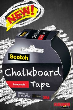 Scotch Black Chalkboard Tape is ideal for creating, crafting, labeling, personalizing, and decorating in the classroom!