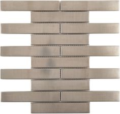 Aspect 24 In Stainless Steel Peel And Stick Decorative