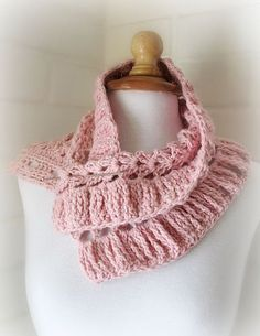 Super Feminine Crocheted Cowl PDF Pattern Scarf Stole Wrap Blanket. $5.00, via Etsy.