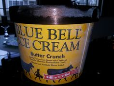 Blue Bell Ice Cream~ *Butter Crunch* is like a Butterfinger candy bar mixed with ice cream Bar Mix, Cream Butter, Thing 1, Strawberry Desserts, Chocolate Ice Cream, Natural Flavors, Beer Bottle, Vanilla, Candy