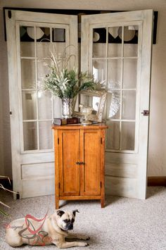 Painted French Doors with Pixie Dust! ~- Designed Decor Painted Old French Doors-Pixie Dust Paint Company-DIY Ana White Furniture, Fast Furniture, Cheap Patio Furniture, Top Furniture Stores, Furniture Removal, Furniture Logo, How To Clean Furniture, French Furniture, Rustic Furniture