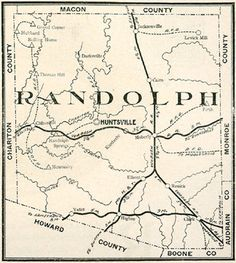 05 pages of Randolph County, Missouri history and genealogy including 335 family biographies plus 9 different maps featuring 26 Randolph County, Missouri communities