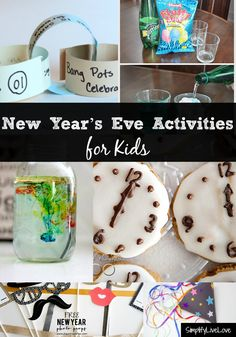 Fun New Year's Eve Activities for Families - activities for the whole family to enjoy.