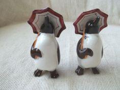 Vintage Penguin Salt & Pepper Shakers Japan