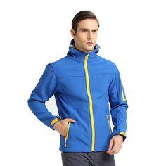 Mens Outdoor Soft Shell Fleece Lined Hiking Camping Jacket Waterproof Warm Coats