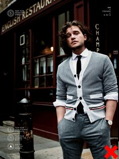 "Kit Harrington. I saw this and said ""oooooh, aren't YOU pretty?"""