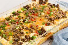 Cheesy Taco Lasagna  - Delish.com