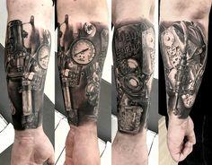 tatouage steampunk par stephane bueno tatoueur studio black corner tattoo valence #tattoo #tattoos #tattooed #tattooart #tattooartist #tattooist #tattooing #ink #inked #inked #girls #angel #realistictattoo #blackcornertattoo #stephanebueno #valence #steampunk #blackandgrey
