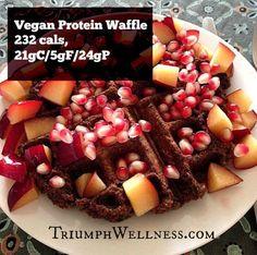 Macro-Friendly Gluten-Free Vegan Protein Waffle